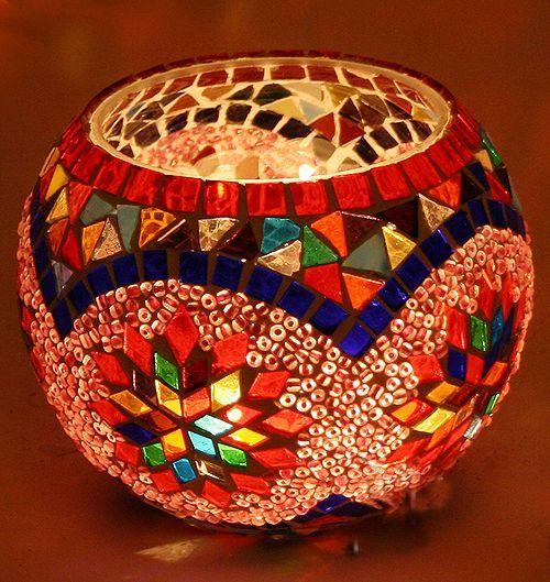 Turco mosaico titular de la vela l mparas de turco for Mosaico marroqui