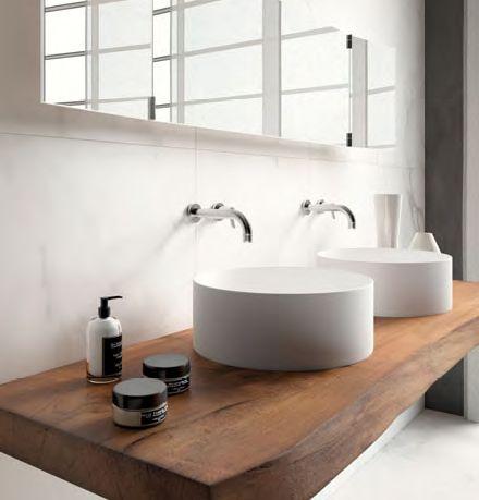 Encimera ba o en madera maciza ba os bathroom pinterest ranges and house - Encimera bano madera ...