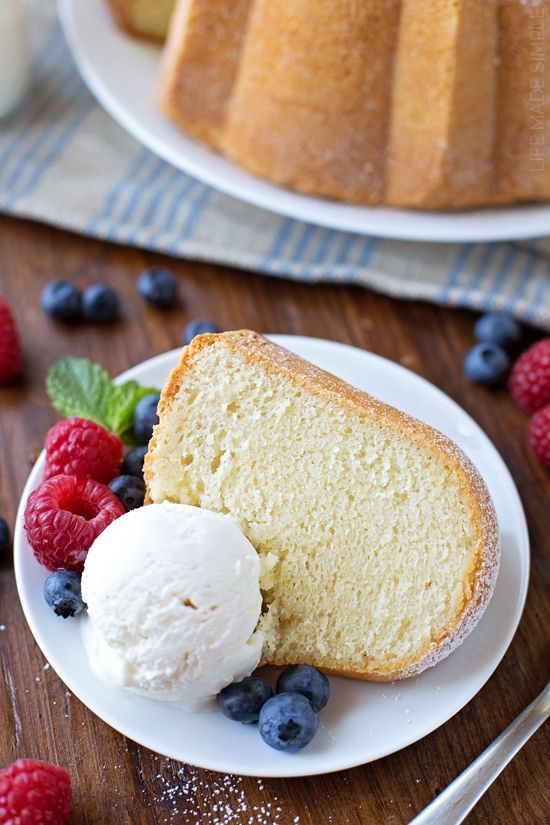 Sour Cream Pound Cake Recipe Life Made Simple Recipe Sour Cream Pound Cake Baking Desserts