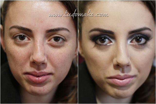 anets e depois de maquiagem famoso - carline - tudo make - maquiadora curitiba