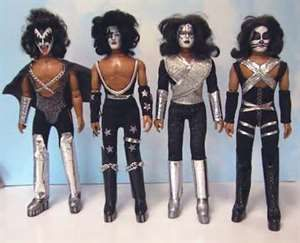Original Kiss Mego Action Figures Known As Dolls Back Then Kiss