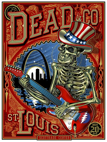 dead and company gig posters dead company dead images poster. Black Bedroom Furniture Sets. Home Design Ideas