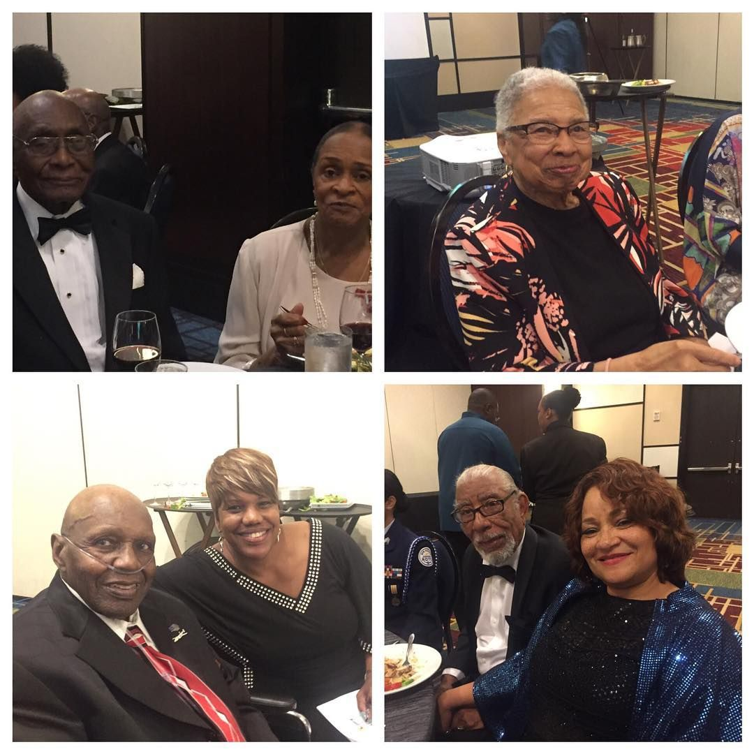 sun in fun honors tuskegee airmen wtsp com tuskegee airmen documented original tuskegee airmen holland pouncy and his wife upper left sara plumber