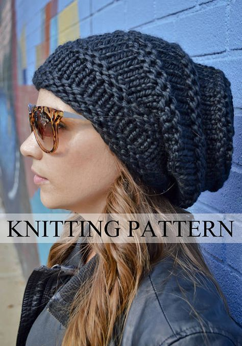 Knit Hat Pattern Knitting Pattern Rocker Hive Beanie Knitted