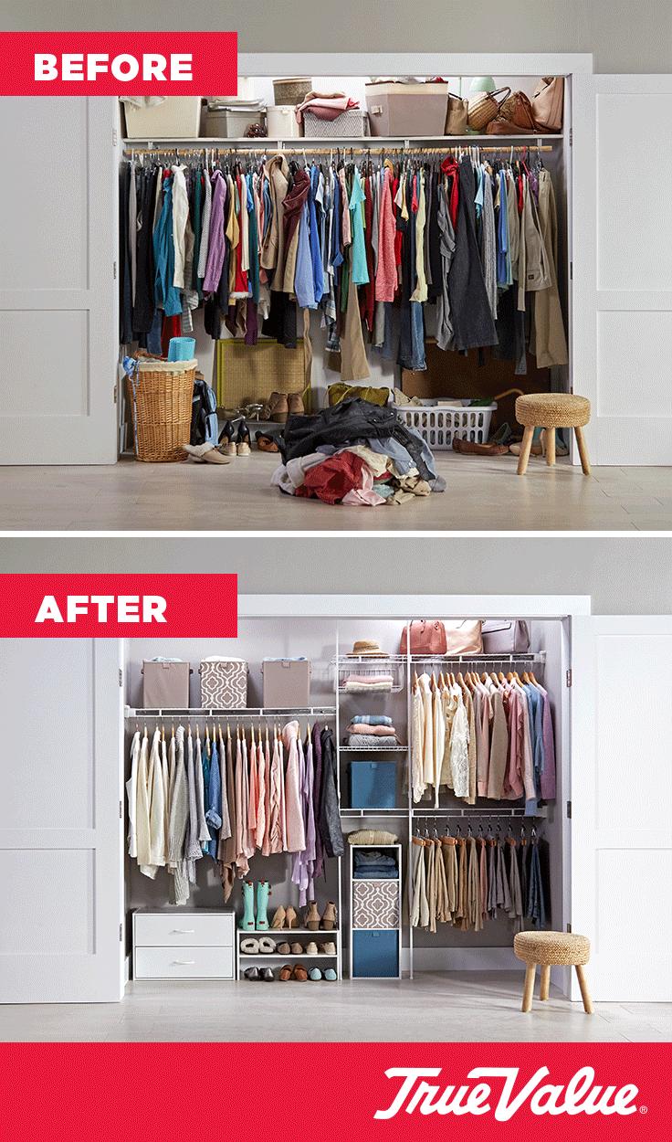 Organizing Is Easy With A Closetmaid Organizer Kit Wardrobe Closet E Small