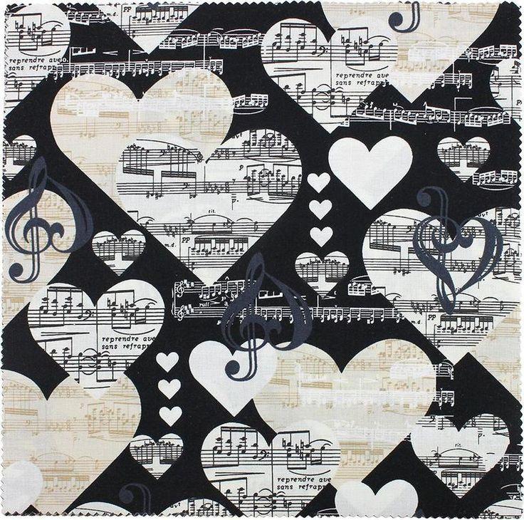 Die Musik in mir – Stoffkollektion – Per Yard – Benartex – von Kanvas Studio – Klavier, Musik… – Musik