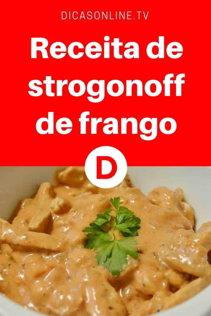 receita strogonoff de frango simples