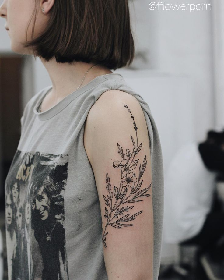Upper Arm Tattoos For Women Simple