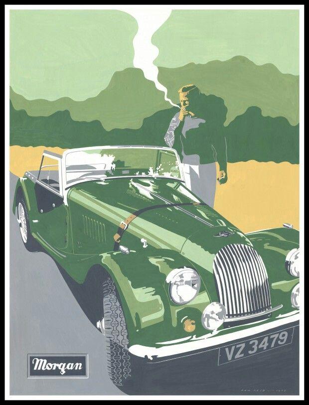 Morgan Vintage Auto Advertising Pinterest Cars Automotive - Sports cars posters