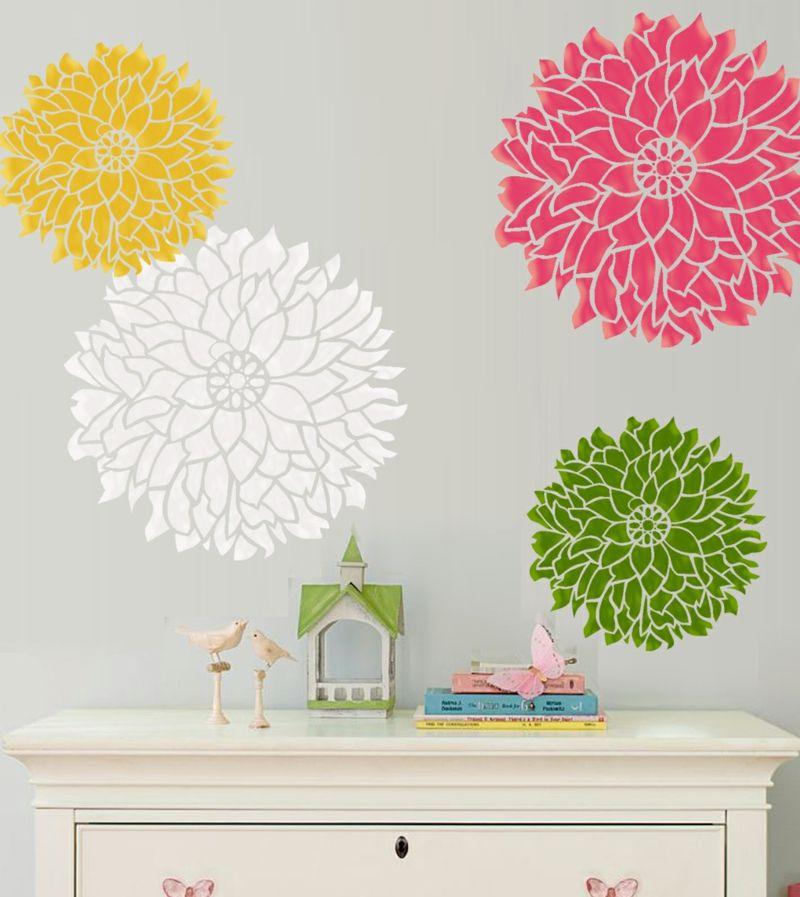 Wände streichen - 24 kreative Ideen mit Wandschablonen inkl