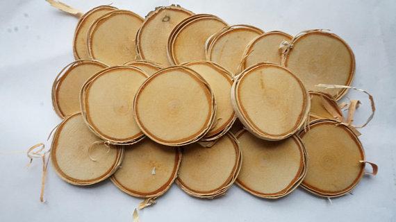 Birch Slices Blank Wood Slices Bulk Log Slices Wood Slice Art Wood Ornament Blank Wooden Wedding Favor Wood Ornament Bulk Tree Slab Wood Slab Wood Decor