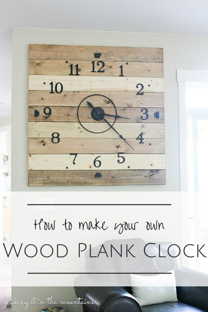 At 4ft square, this rustic DIY Clock can't help but make a BIG impression! You won't believe how inexpensive and simple it was to make!