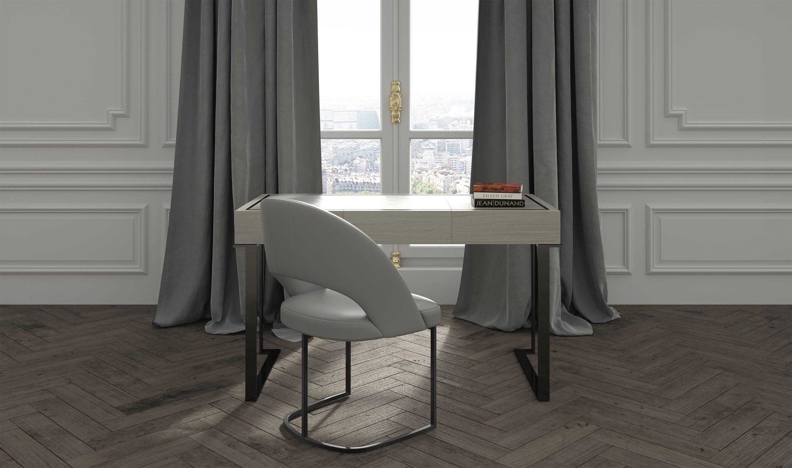 Paris Office With Almachair From Hugueschevalier Paris Collection Interer Predmety Interera