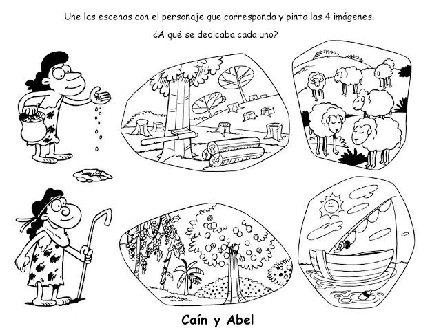 Actividades para colorear de Caín y Abel | Caín y Abel | Pinterest ...