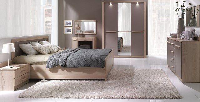 Design Luxus Schlafzimmer Set Stilmöbel Edelholz Komplett Braun SL36 ...