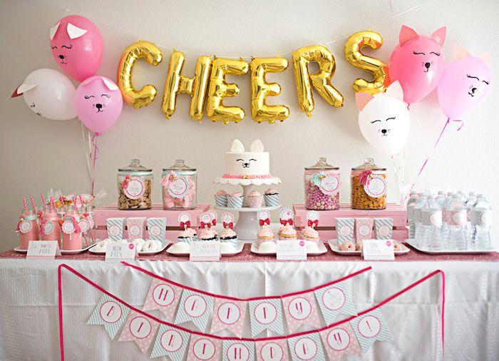 Kitty Cat Birthday Party On Karas Ideas
