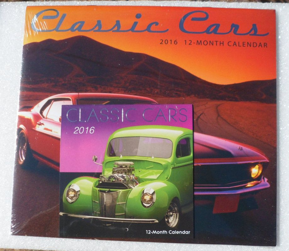 Classic Cars 2016 Calendar! Original Unopened Cellophane! Pocket Calendar! Perfect For Collectors & Scrapbooking! Ships Free! On Sale Now! by OldLadyWhite on Etsy