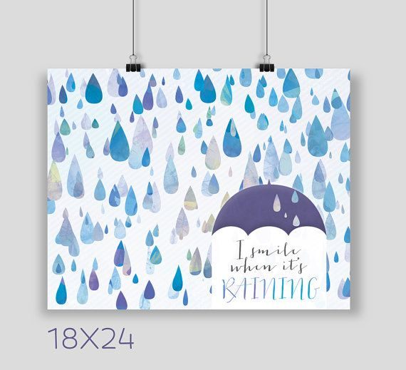 I Smile When It's Raining Art Print Available by NoondaybyTracey