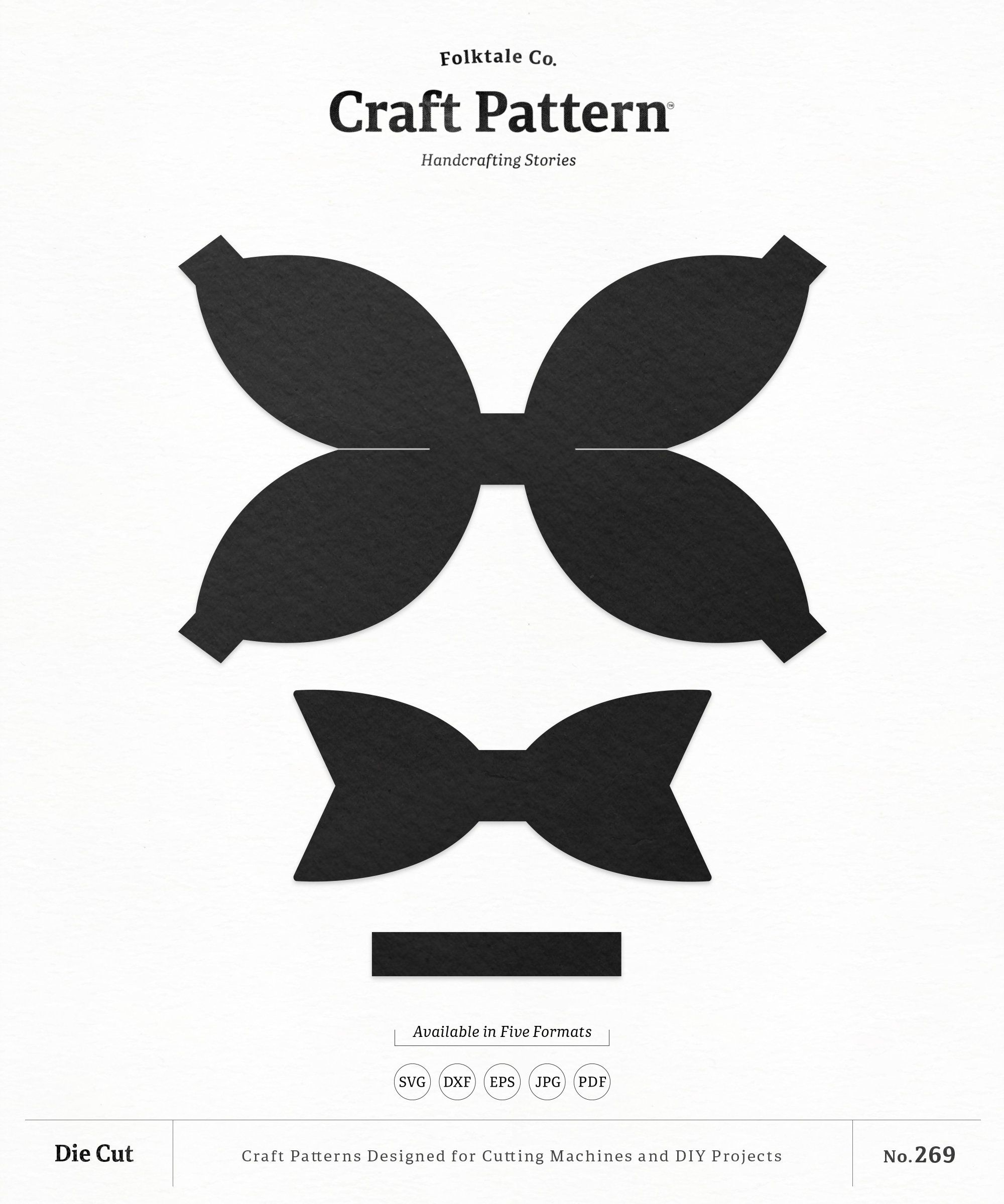 Bow Template Svg : template, Lazos