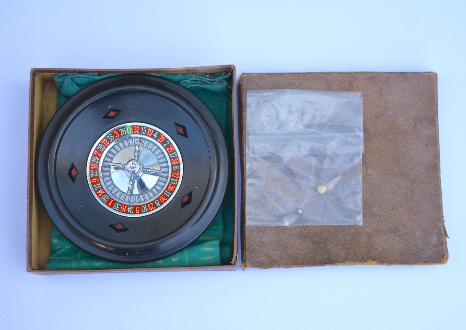 1950s K&C Roulette Set Made in England Vintage Games Room Vintage Casino Traditional Game Family Game Xmas Game Christmas by BiminiCricket on Etsy