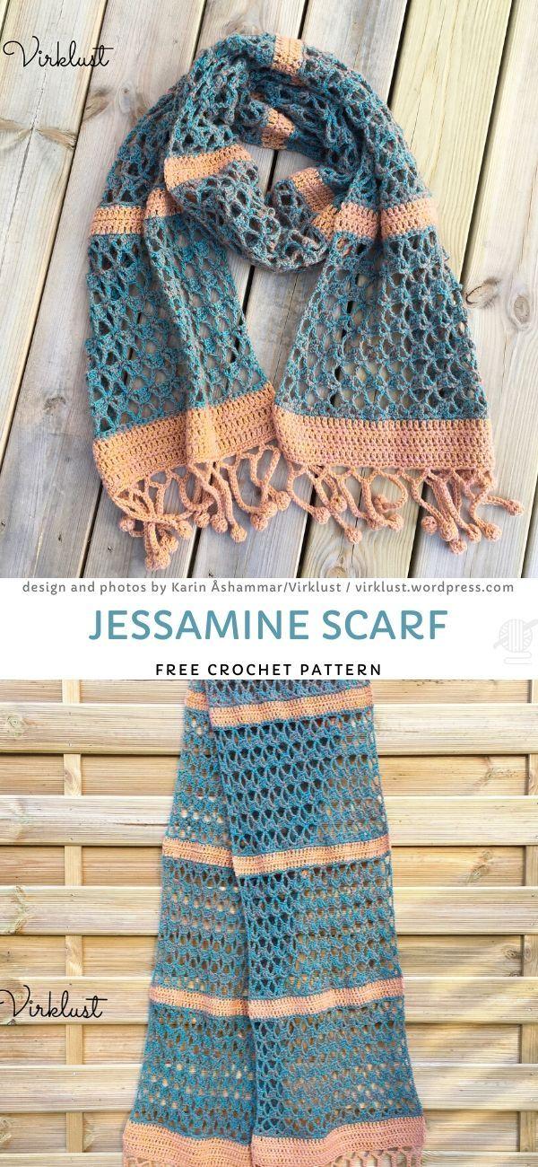 Jessamine Scarf Free Crochet Pattern