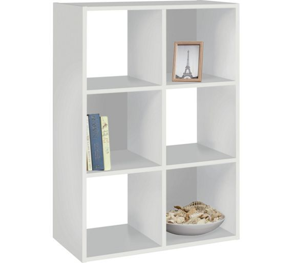Buy Argos Home Squares 6 Cube Storage Unit White Storage Units