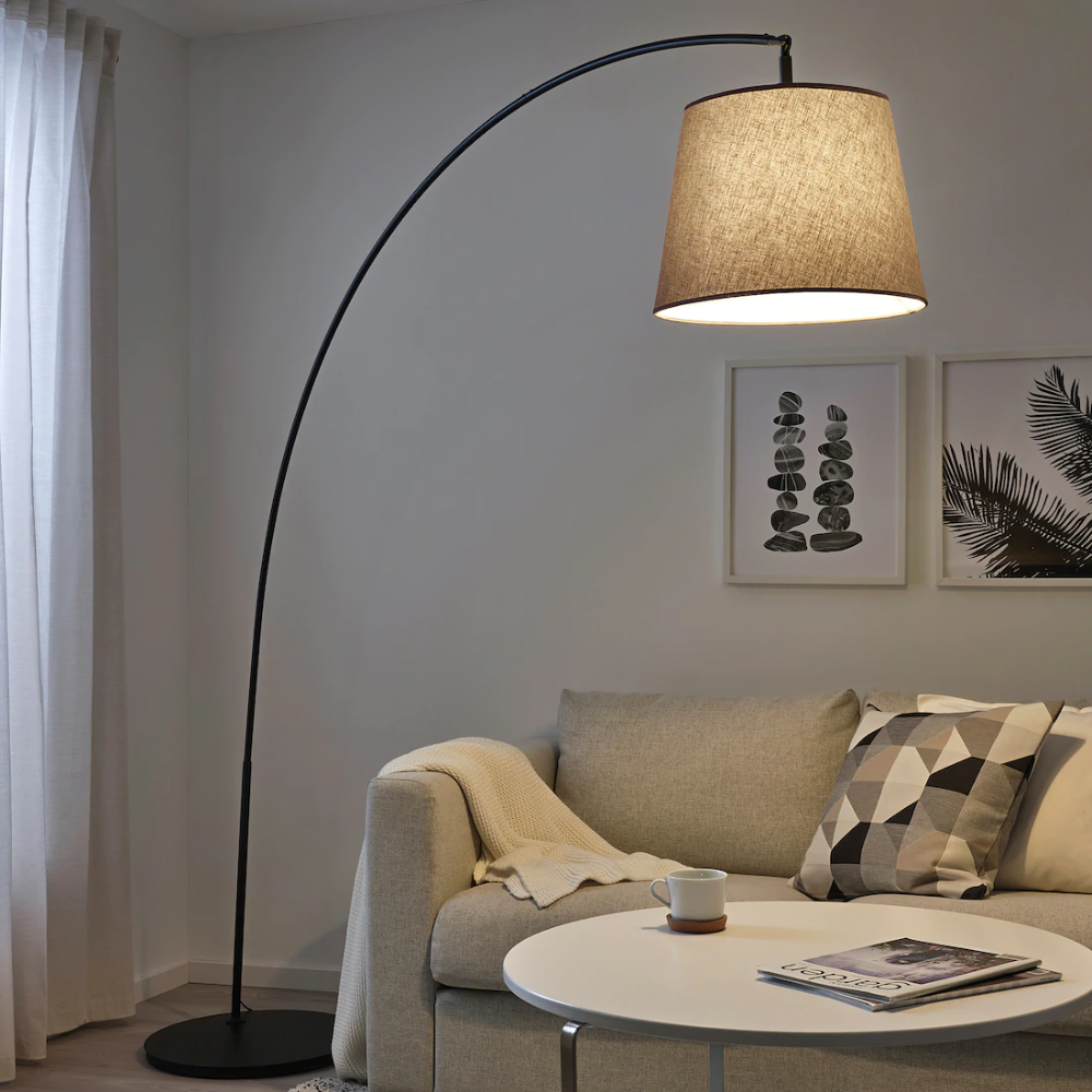 Skottorp Skaftet Floor Lamp Base W Light Blb Arched Light Gray Ikea Floor Lamp Standing Lamp Living Room Arch Light