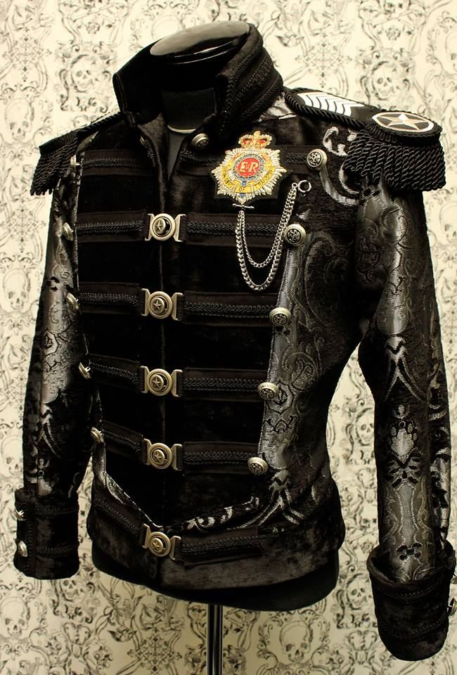 DOMINION JACKET – SILVER/BLACK TAPESTRY – Shrine of ...  Steampunk