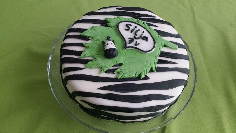 Siljan viidakko -kakku - Seeproista tykkäävän neidin suklaakakku, jonka raidat yltää sisälle asti.