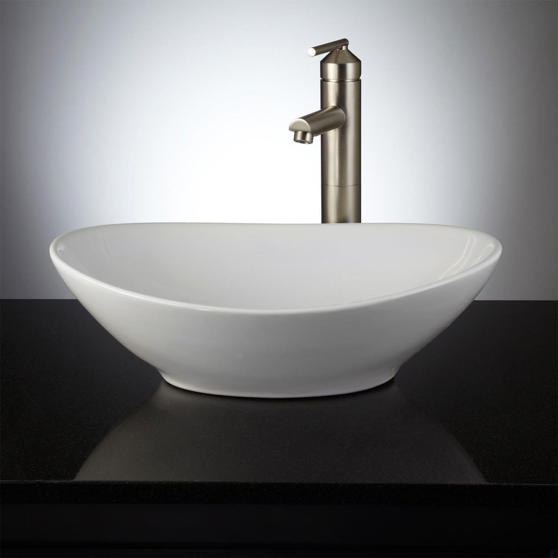 Valor Oval Porcelain Vessel Sink Vessel Sinks Bathroom Sinks
