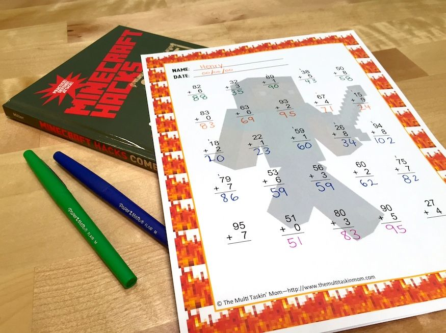 FREE Minecraft Math Worksheets Your Kids Will Love