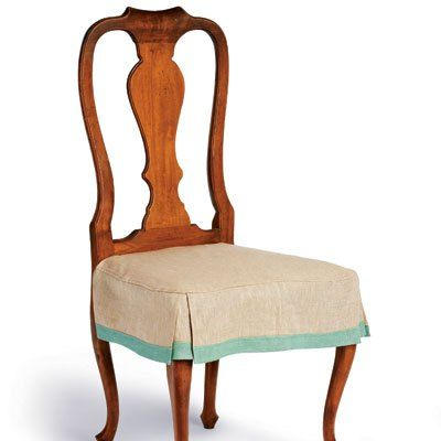 Add A Skirt For L 40 Time To Refresh Your Nest Chairapron Cute Dining Room Chair CoversDining