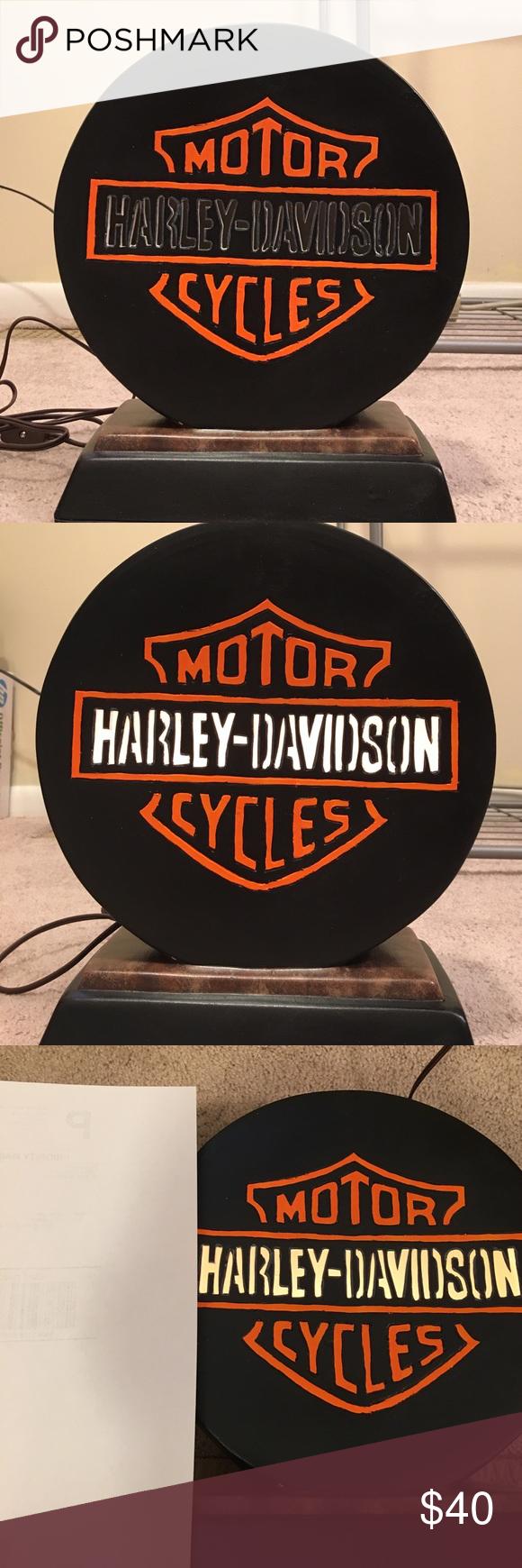 Great night lamps - Harley Davidson Ceramic Lamp Hand Made Ceramic Hd Lamp Great For A Night Lamp Or