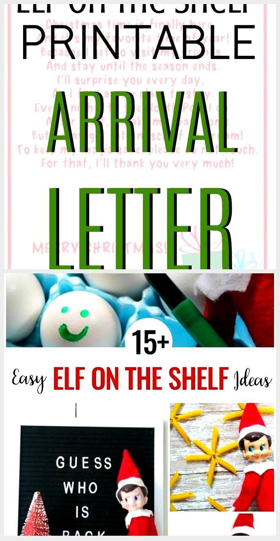 Elf on the Shelf Arrival Letter, arrival Elf Letter