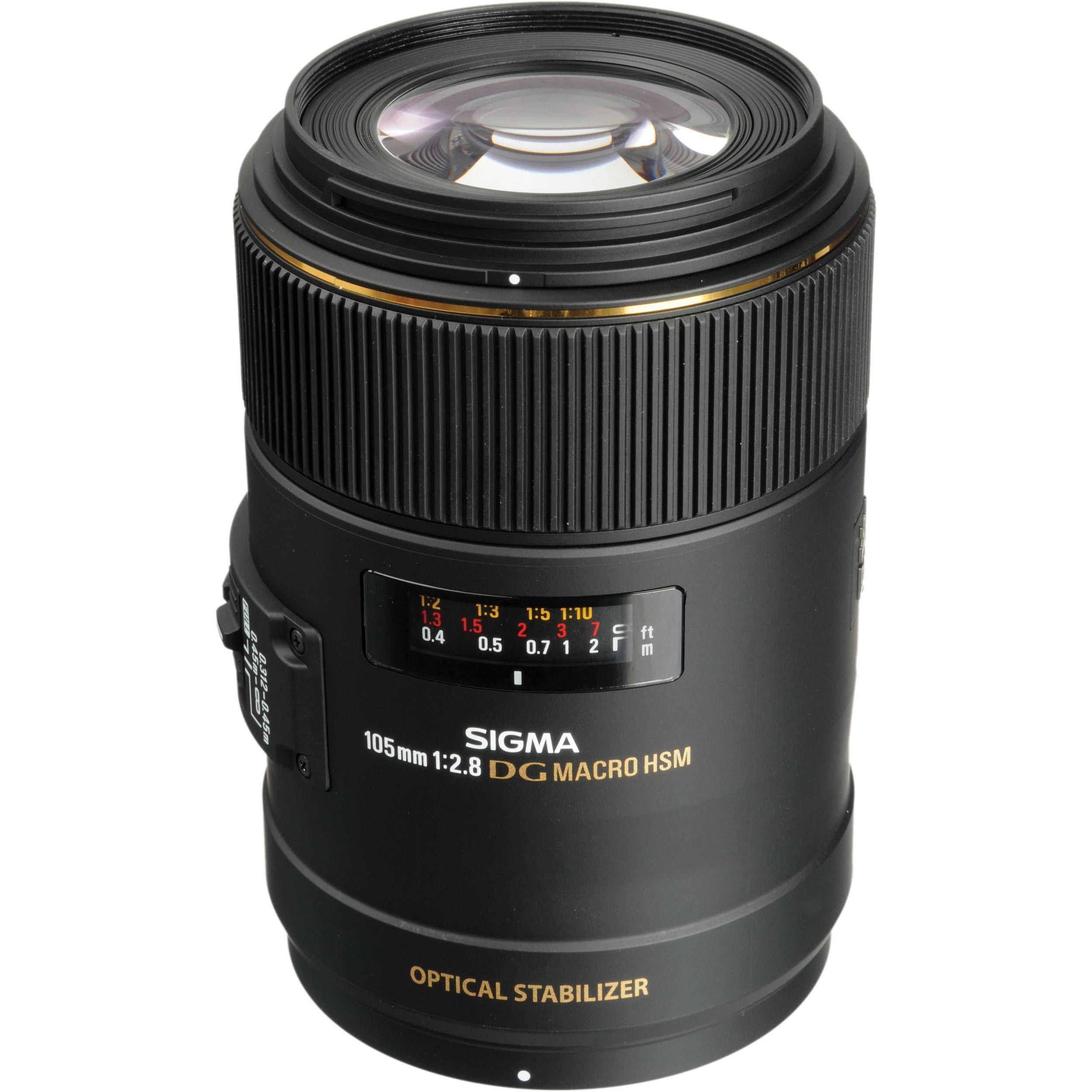 Sigma 105mm F 2 8 Ex Dg Os Hsm Macro Lens For Nikon Af 258306 Macro Lens Canon Nikon Macro Lens Sigma Lenses