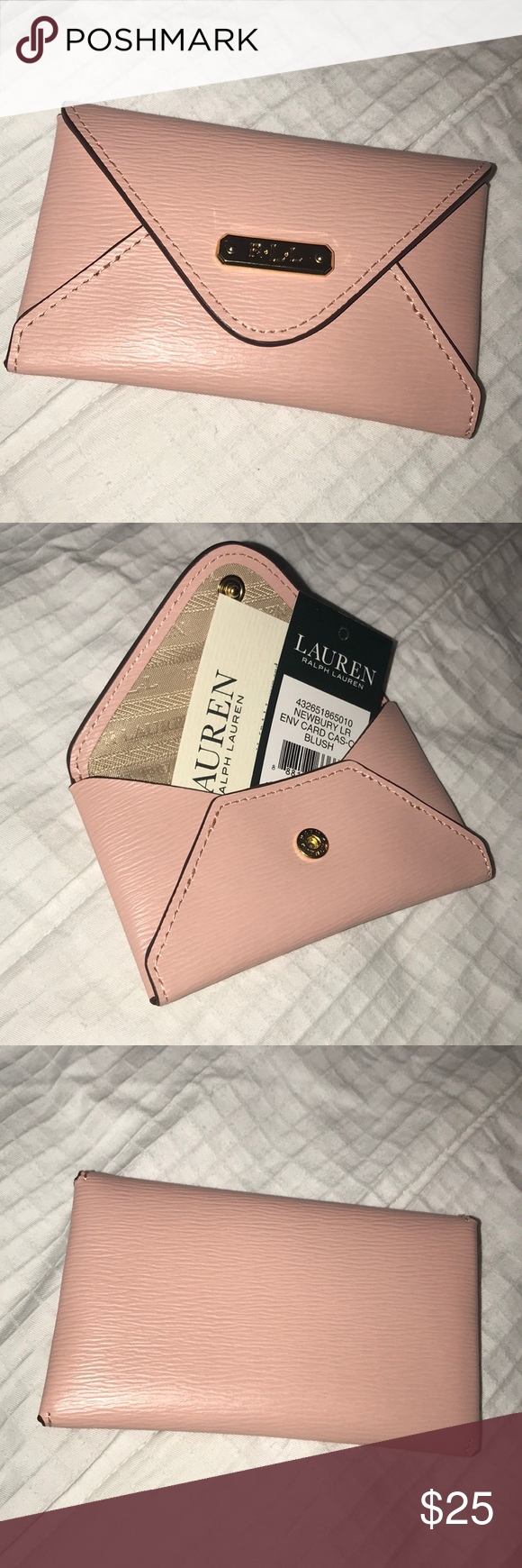 brand new 356e2 94885 Ralph Lauren envelope card holder New with tag! beautiful blush ...