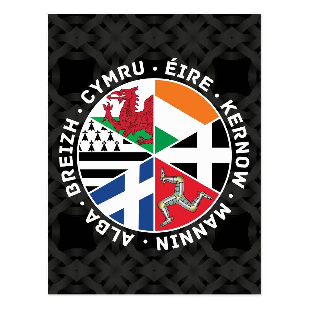 Celtic Nations Flags Postcard Zazzle Com In 2020 Celtic Nations Celtic Postcard