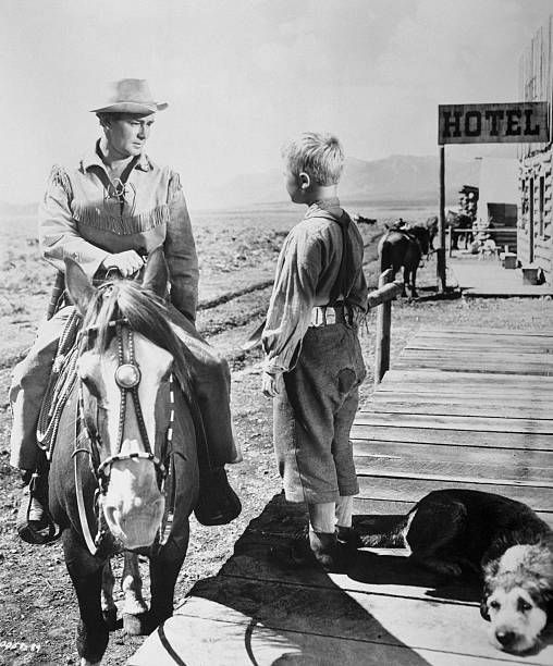 Alan Ladd And Brandon DeWilde In Paramount's Shane