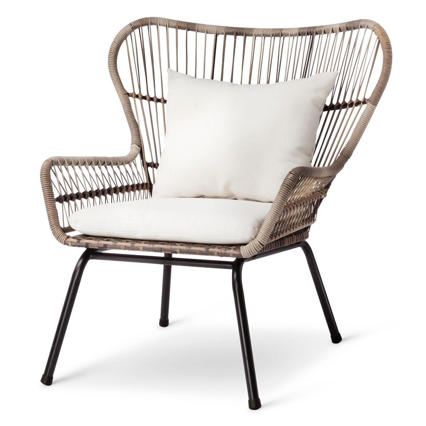 All Weather Wicker Outdoor Chairs Ikea Poang Latigo 3pc Patio Chat Set Tan Threshold Image 3 Of 6
