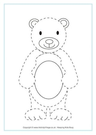 animal tracing page - Kindergarten Tracing Pages