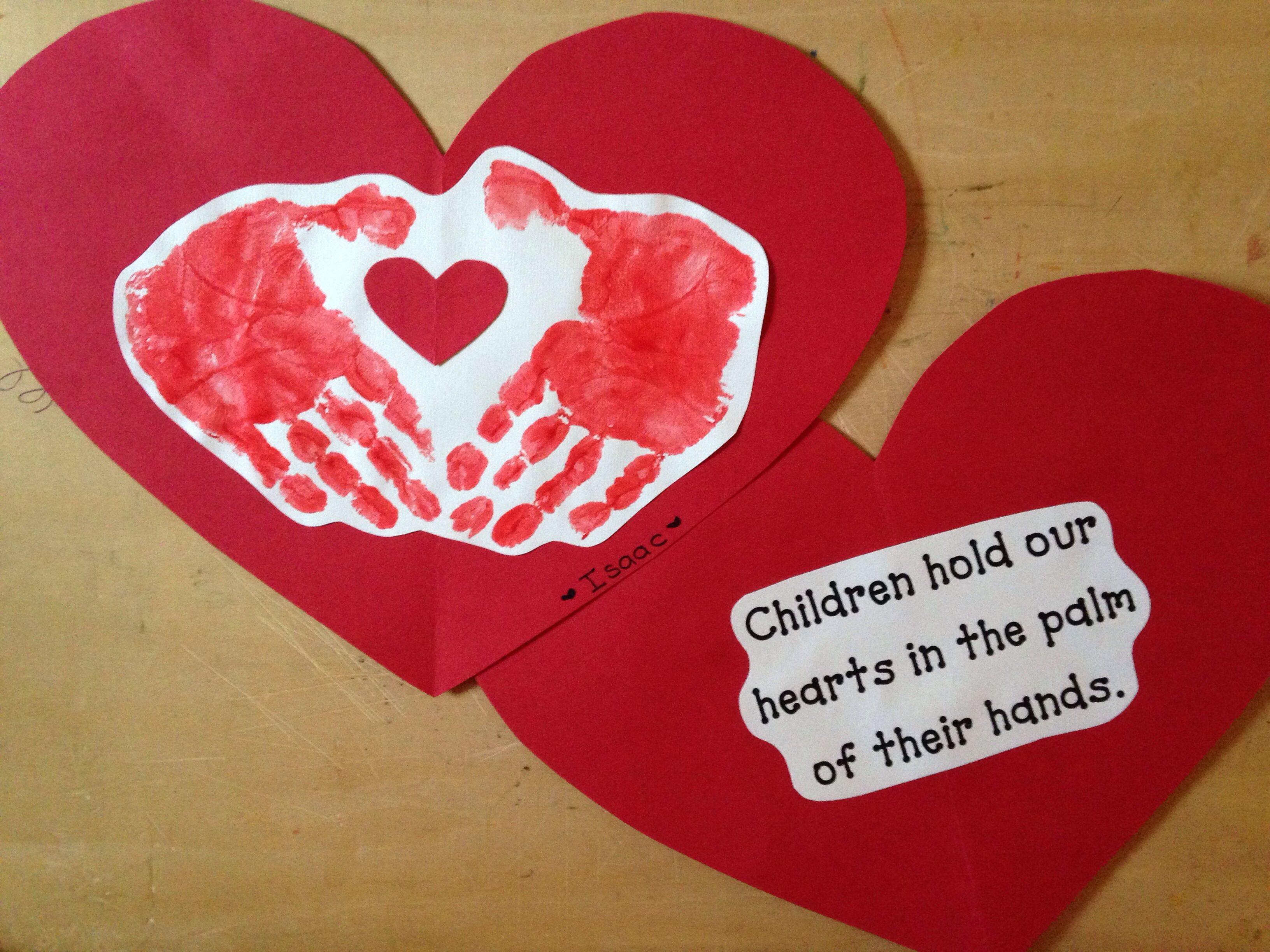 Valentine From Student To Parent Front And Back With Poem