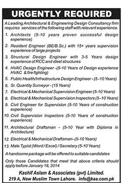 Architectural Engineering Design Jobs Lahore Punjab Pakistan