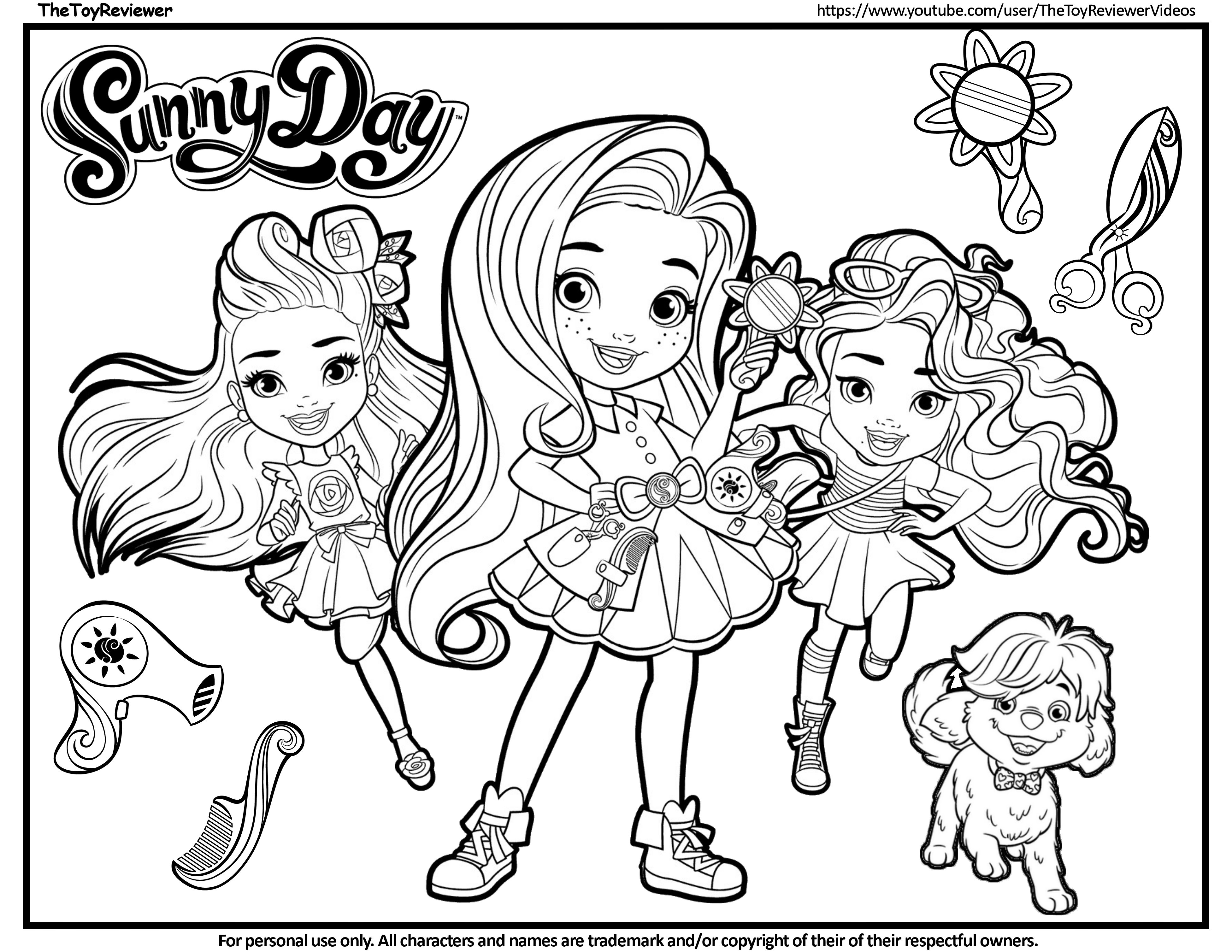 Here Is The Sunny Day Coloring Page Click The Picture To See My