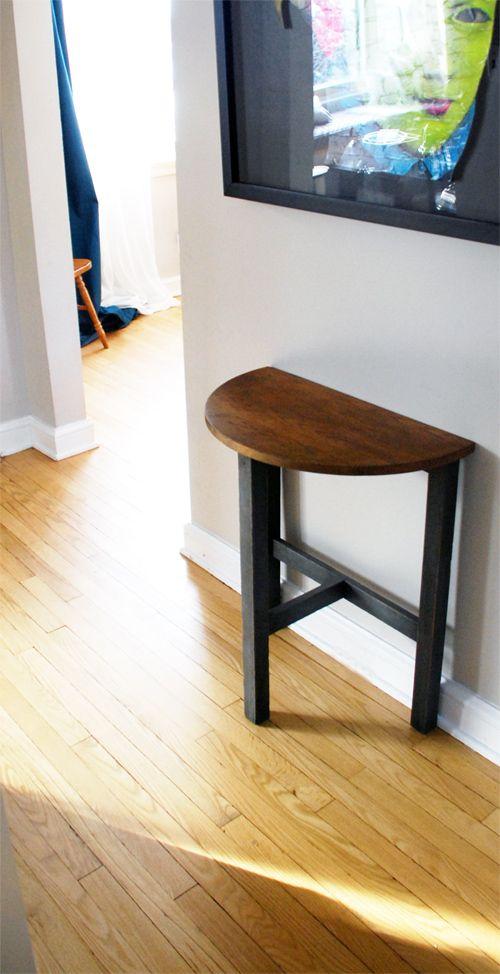 Style Oak Half Moon Table