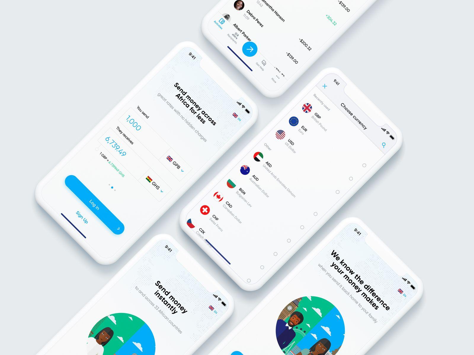 Remittance App Design App design, App, Design