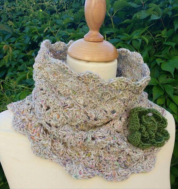 Crochet Pattern Crochet Cowl Pattern Crochet Scarf Pattern Wraps