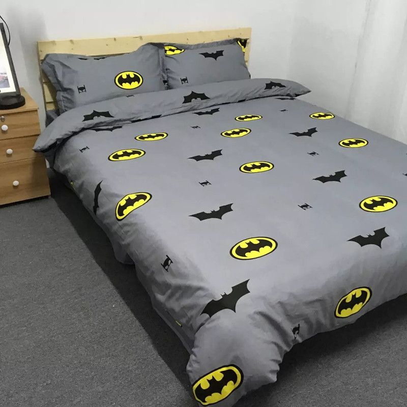 Batman King Size Duvet Cover Twin Queen King Size Cotton Bedding