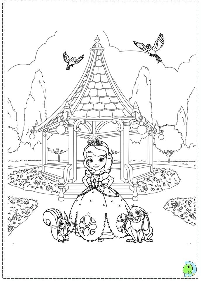 sofia the first coloring pages sofia the first coloring page dinokidsorg