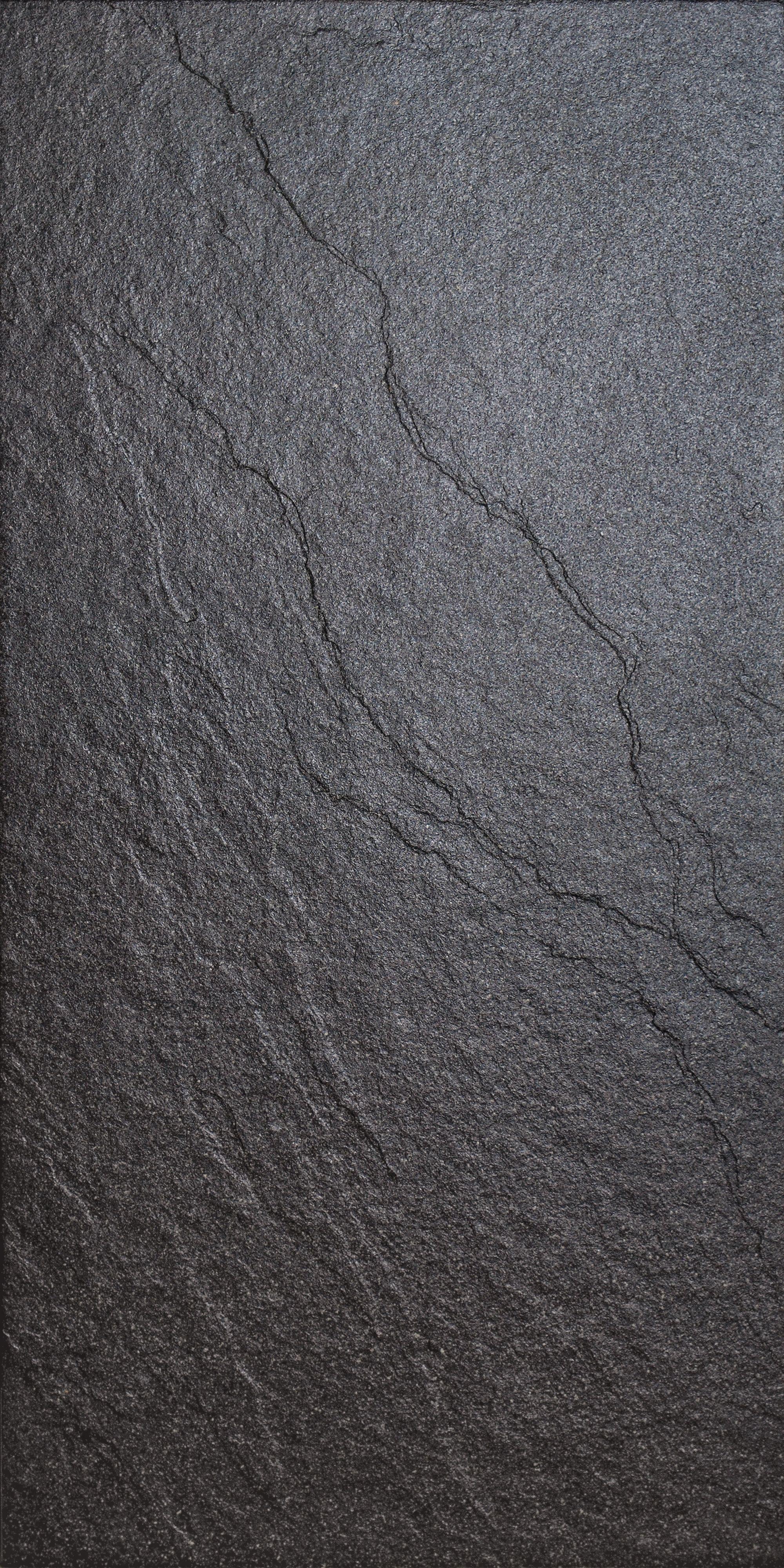 Magma Black Stone Effect Plain Porcelain Wall Floor Tile Pack