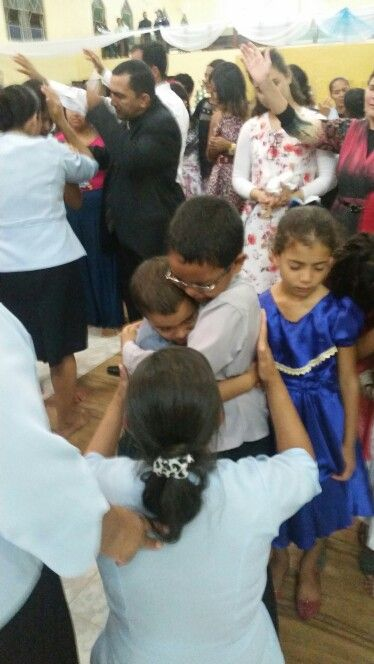 Two kids that received the Holy Ghost the second night.